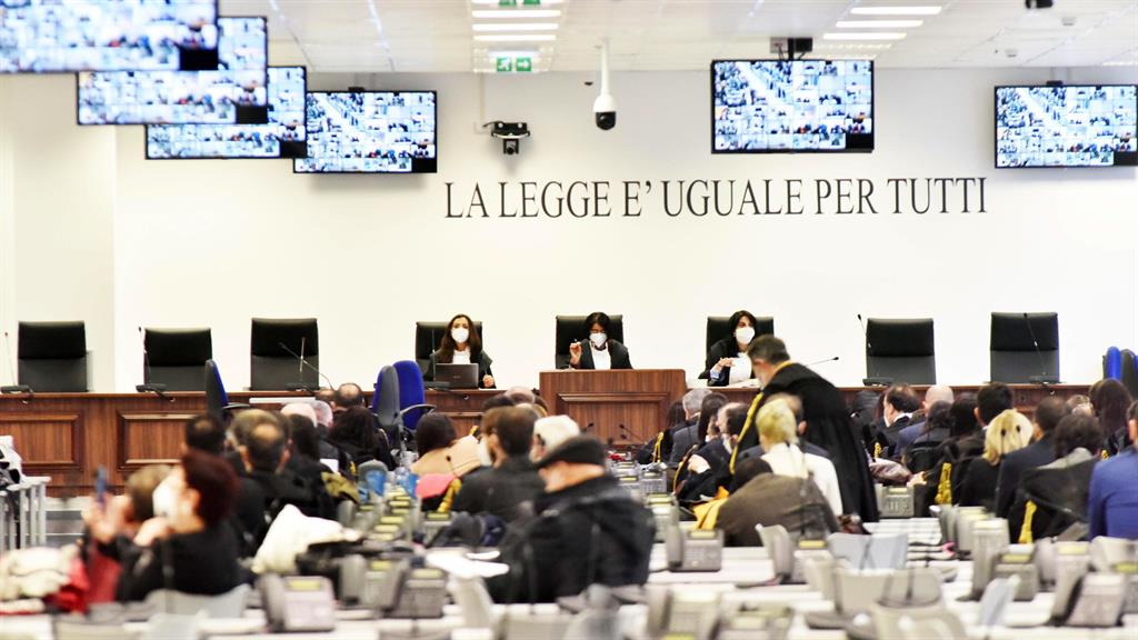 Mobbed: Case with 355 defendants is having to be held at a converted call centre PICTURE: EPA